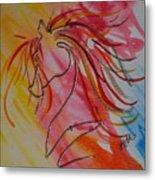Primary Horse Metal Print