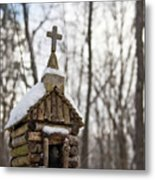 Primitive Church In The Mountains Metal Print