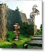 Primitive Statues Metal Print