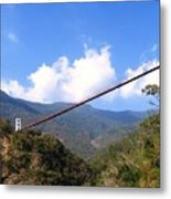 Primitive Suspension Bridge Metal Print