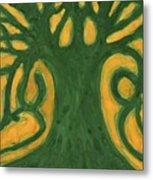Primitive Tree Metal Print