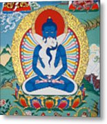 Primordial Buddha Kuntuzangpo Metal Print