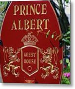 Prince Albert Guest House Sign Provincetown Metal Print