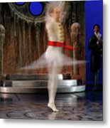 Prince Charming In Blurred Spin While Dancing In Ballet Jorgen P Metal Print