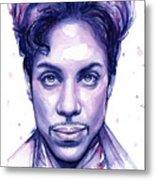 Prince Purple Watercolor Metal Print