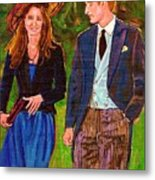 Prince William And Kate The Young Royals Metal Print