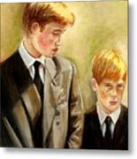 Prince William And Prince Harry Metal Print