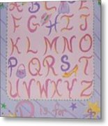 Princess Alphabet Metal Print