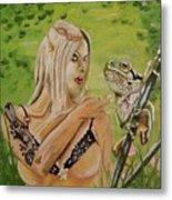 Princess And Frog Metal Print