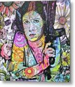 Princess Leia Flowers Metal Print