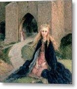 Princess With A Spindle Metal Print