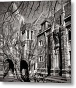 Princeton University Foulke And Henry Halls Archway Metal Print