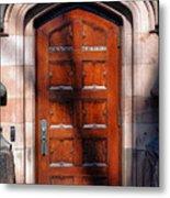 Princeton University Wood Door  Metal Print