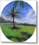 Princeville Palm Metal Print by Kenneth Grzesik