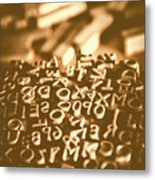 Print Industry Typographic Letters And Numbers Metal Print