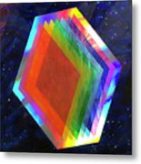 Prismatic Dimensions Metal Print