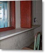 Prison Visitation Phones  Metal Print