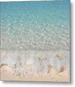 Pristine Beach At Half Moon Cay Metal Print