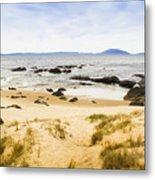 Pristine Beach Background Metal Print