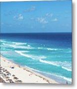 Pristine Beach In Cancun Metal Print