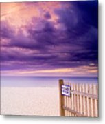 Private Beach Cape Cod Metal Print