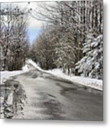 Private Country Road Metal Print