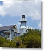 Private Lighthouse On The Indian River Lagoon In  Melbourne Florida Metal Print