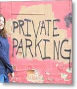 Private Parking. Metal Print