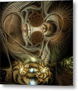Probing Deception Metal Print