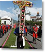 Procession In Furnas - Azores Metal Print