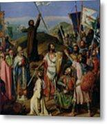 Procession Of Crusaders Around Jerusalem Metal Print