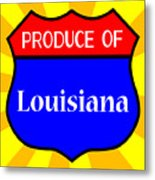 Produce Of Louisiana Shield Metal Print