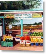 Produce Stand Metal Print
