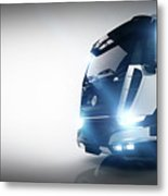 Professional Cargo Delivery Truck With Long Trailer. Banner Metal Print