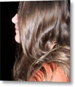 Profile Of A Woman Metal Print