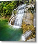 Profile Of The Lower Falls At Enfield Glen Metal Print