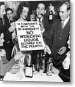 Prohibition Ends Let's Party Metal Print