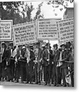 Prohibition Protestors Metal Print