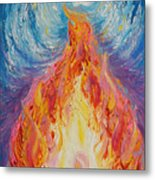Prophetic Message Sketch 16 Listen To The Benevolent Flame Look For The Promise  Metal Print
