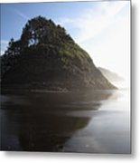 Proposal Rogue Wave Rock - Oregon Coast Metal Print