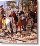Prospecting For Cattle Range 1889 Metal Print