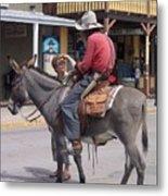 Prospector Re-enactor With Fan Allen Street Tombstone Arizona 200 Metal Print