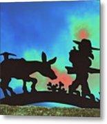 Prospector's Silhouette Metal Print by Richard Henne