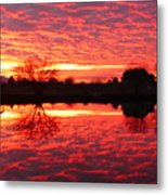 Dramatic Orange Sunset Metal Print