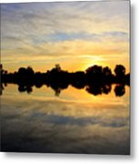 Prosser Sunset - Blue And Gold Metal Print