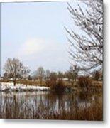 Prosser Winter - Brown And Burgundy Metal Print