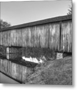 Protection That Works Historic Watson Mill Covered Bridge Metal Print
