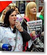 Protest Rally Metal Print