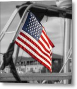 Proud Nautical American  Metal Print