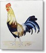Proud Rooster Metal Print
